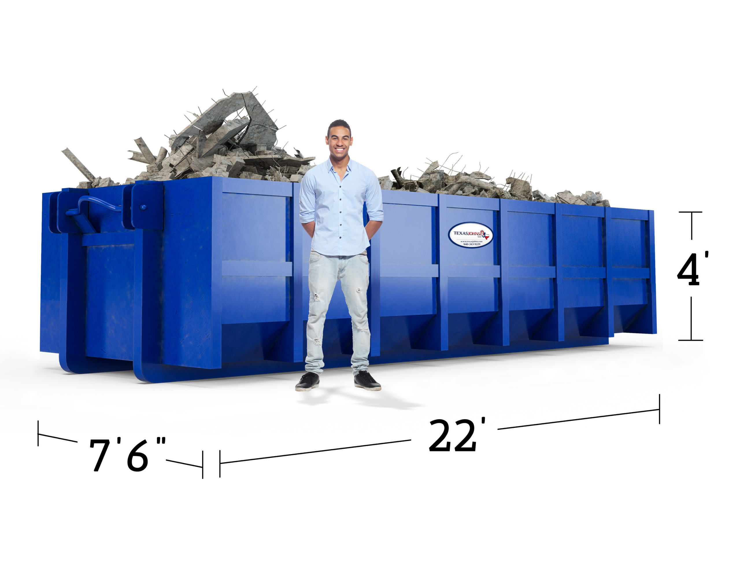 image of 7.5 x 22image of 7.5 x 22 x 4 dumpster x 6 dumpster
