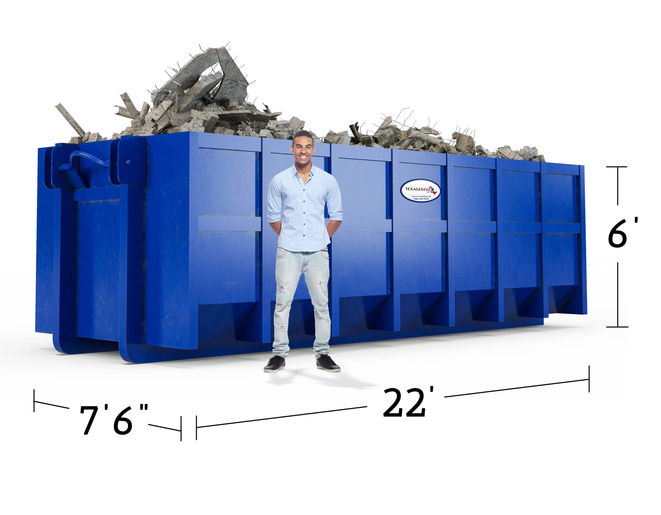 image of 7.5 x 22 x 4 dumpster
