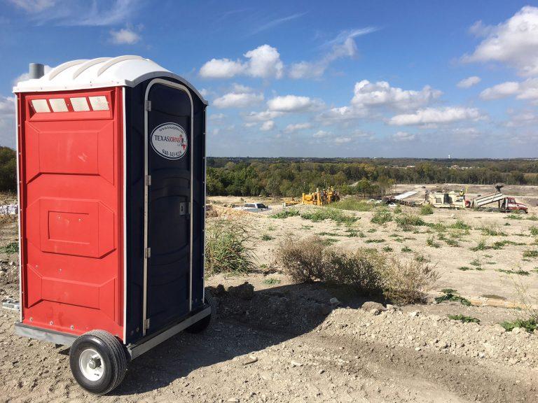 Portable Toilet Trailer for Construction Sites - Texas Johns Portable Restrooms