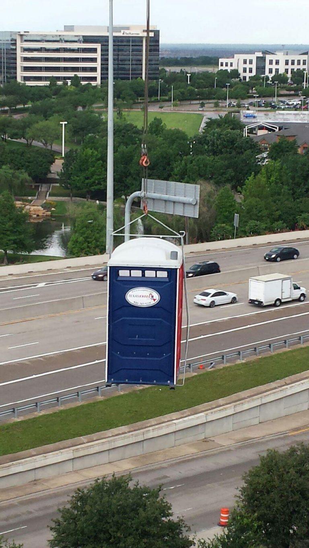 Rooftop View, Frisco, Texas - Texas Johns Portable Restrooms