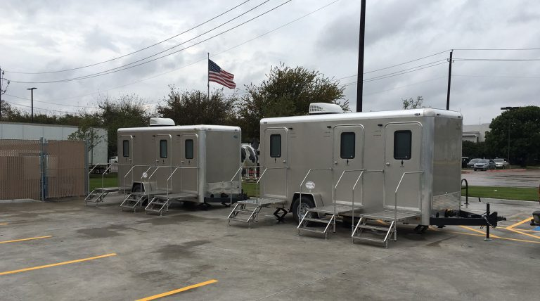 Texas Johns Restroom Trailers at Oak Farms Dairy