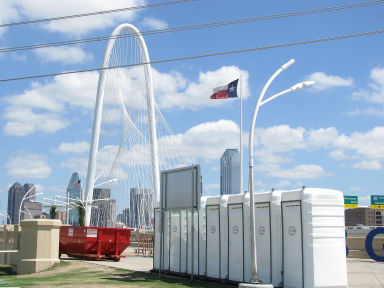 White Flushable Units for Events and Weddings - Texas Johns Portable Restrooms